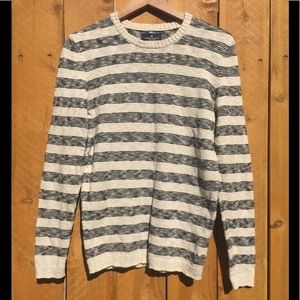 American Eagle Striped Crewneck Sweater